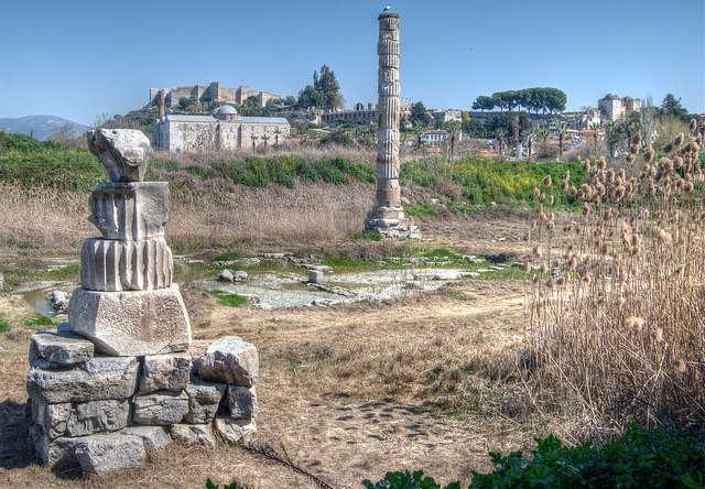 Artemis temple Selcuk Turkey