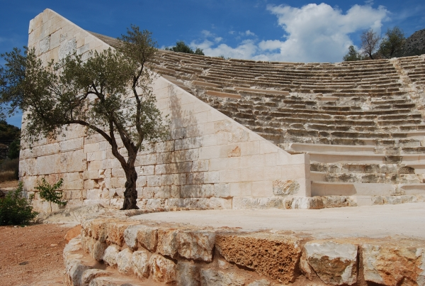 Hellenistic theatre in Kas
