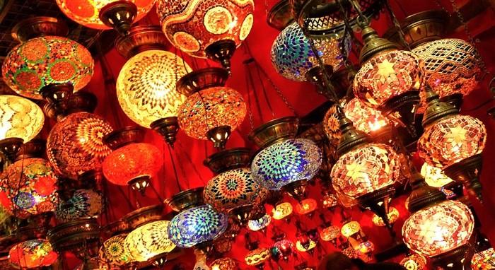 Mosiac lanterns