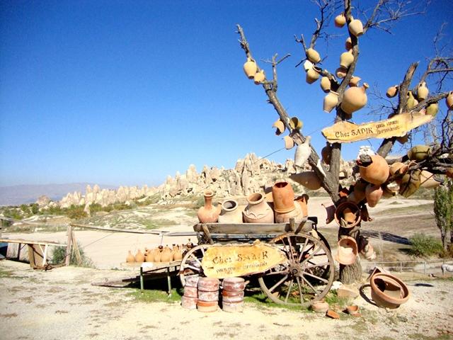 Pottery tree in Cappadocia
