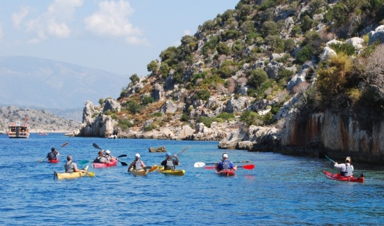 Sea kayaking over Kekova