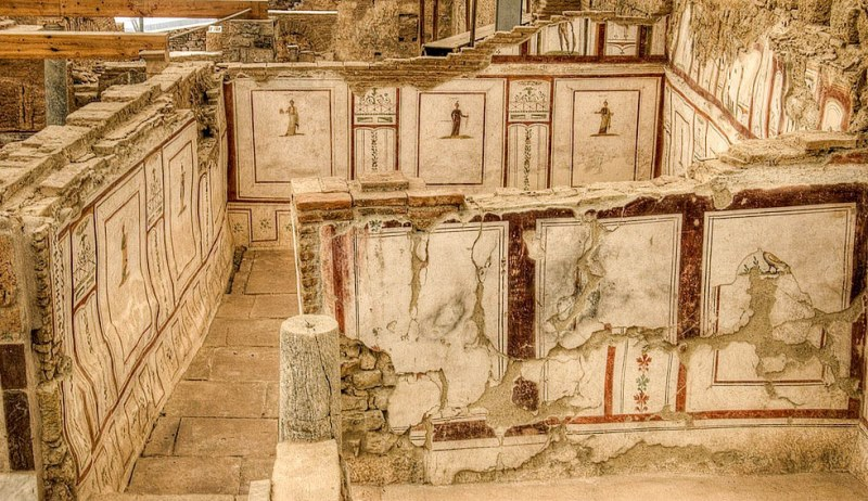 Terrace houses at ancient ruins of Ephesus