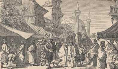 street scene in Constantinople